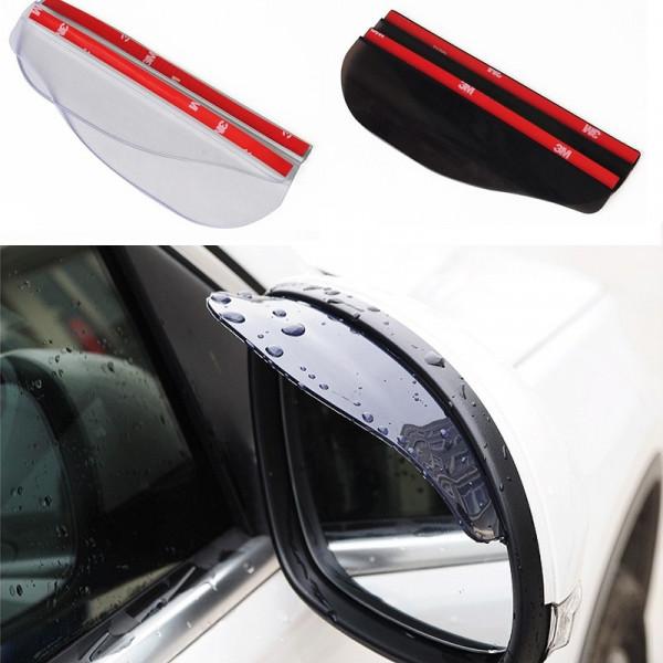 2 Спойлер для анти дождя зеркал дождевик для всех моделей 3M Липкие