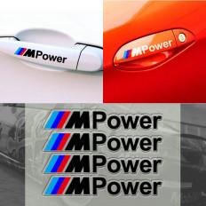 4 pezzi adesivo decalcomania della maniglia auto per BMW m3 m5 x1 x3 x5 x6 e36 e39 e46 e30 e60 e92 f30