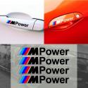 4 pezzi rifrangenti adesivo decalcomania della maniglia auto per BMW m3 m5 x1 x3 x5 x6 e36 e39 e46 e30 e60 e92 f30