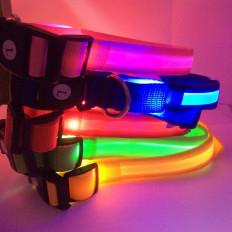 Colar de LED piscando brilhante para gatos ou cães pequenos com liberação rápida