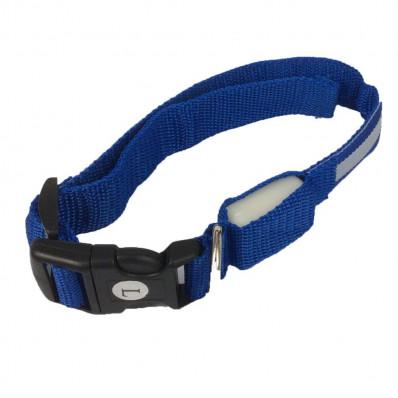 Collare luminoso lampeggiante a LED per gatto o cani piccola taglia a sgancio rapido
