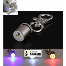 LED safety light metallic collar for dogs and cats