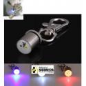 Coleira metálica luz de LED segurança para cães e gatos