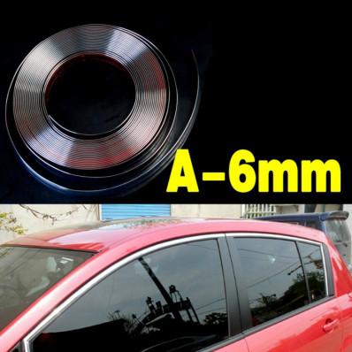 3 Metri profilo paracolpi cromato adesivo per decorazione auto