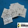 Target riflettenti rifrangenti adesivi 30x30mm con croce di mira 20 pezzi
