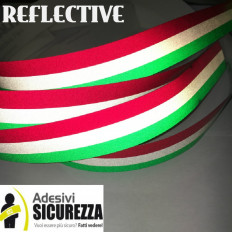 Faixa de fita adesiva bandeira Tricolore reflexivo listrado Itália