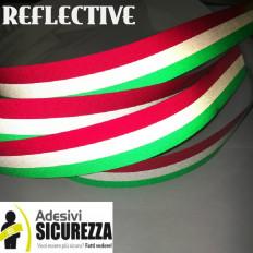 Gama de cinta adhesiva bandera Tricolore reflexiva rayas Italia
