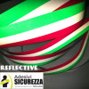 Fascia banda adesiva Tricolore bandiera Italia a strisce in 3 misure