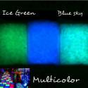 Grit / areia de vidro fosforescente fluorescente que brilha no escuro para a decoração 1/2 milímetros
