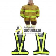 Nastro in PVC riflettente fluorescente da cucire sui vestiti giallo 25mm