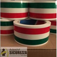 Italienische Flagge Tricolor Verpackungsband 50mm x 66MT