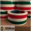 Fita adesiva de embalagem bandeira italiana - 50 mm x 66MT