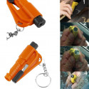 Mini Hammer car safety in the event of an accident, breaking glass cut belt, whistle to attract attention