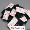 Pegatinas en velcro adhesivo negro Dual Lock™ de la marca 3M™
