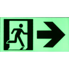Аварийный выход знак люминесцентные свечение в темной Наклейки