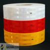 Klebefolie Retroriflettente genehmigt 3 m Diamond Grade 983 für die Kante rot oder gelb-weißen Fahrzeuge bei metro