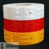 Pellicola adesiva omologata retroriflettente 3M Diamond Grade 983 per la bordatura dei veicoli Rosso Bianco o Giallo al metro