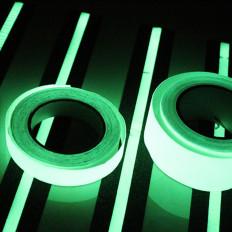 Nastro pellicola termosaldabile fosforescenti si illuminano al buio 25mm x 2MT