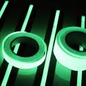 Nastro termosaldabile (con ferro da stiro) fosforescente si illumina al buio 25/50mm x 2MT