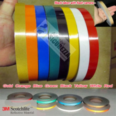 Adhesive Bike wheels brand 3M™ reflective stripe for wheels 7mm x 6MT