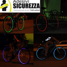 Tiras adhesivas reflectantes para las ruedas de las bicicletas – 7mm x 6MT