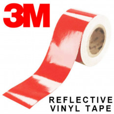 Pellicola adesiva riflettente scotchlite 3M™ serie 580 colore rosso