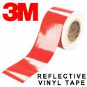 Cinta adhesiva reflectante en vinilo roja de la marca 3M Scotchlite™ serie 580