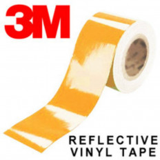 Клейкая пленка Светоотражающего серии 3M ™ Scotchlite 580 оранжевого цвета