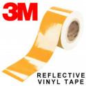 Cinta adhesiva reflectante en vinilo Naranja de la marca 3M Scotchlite™ serie 580
