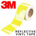 Láminas adhesivas reflectantes de 3M scotchlite ™ 580 serie amarilla