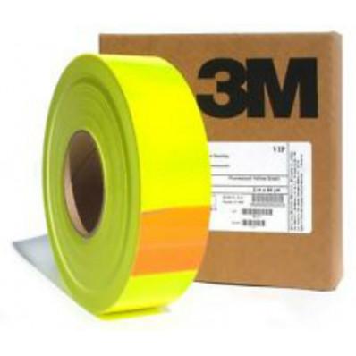 Nastro pellicola adesivo fluorescente alta visibilità giallo 3M