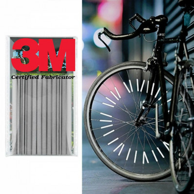 Spoke riflettenti catarifrangenti cerchi bicicletta bike materiale 3M da 24 pezzi