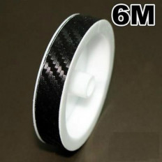 Bandes adhesives en vinyle effect carbone pour moto - 7/10mm x