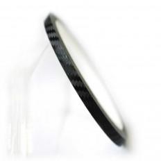 Bandas adhesivas en vinilo efecto carbón para ruedas de moto –