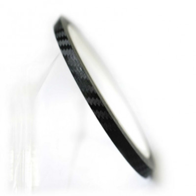 Motos llantas efecto de rayas de carbón tiras adhesivas para rueda 6 mt