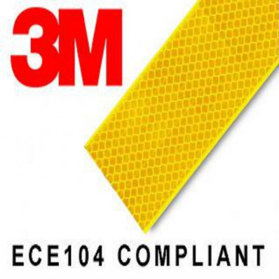 6 retângulos adesivos refletivos realizados com material 3M™