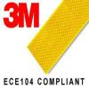 6 retângulos adesivos refletivos realizados com material 3M™ Diamond Grade