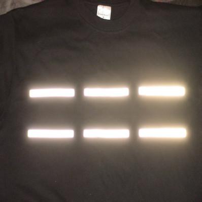 13 pegatinas reflectantes plateadas termo soldables – 1 x 10 cm