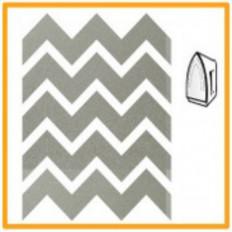 24 Autocolantes em forma de ziguezague prateados termo colantes