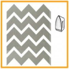 Reflective heat-sealing film Chevron 1,5cm x 3cm 24 pieces