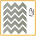 24 Autocolantes em forma de ziguezague prateados termo colantes – 1,5 x 3 cm