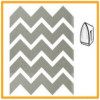 24 pegatinas reflectantes en forma de zigzag plateadas termo
