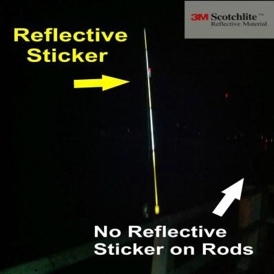 Nastro adesivo riflettente per canna da pesca 7 mm x 3 metri