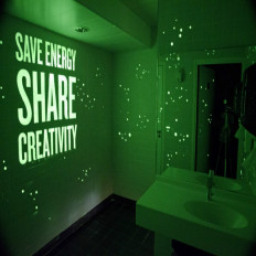Phosphorescent paint glows in the dark - 1l