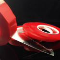 Double sided tape transparent high temperatures for extra resistant 50mt