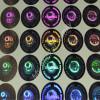 100 Etichette adesive sigilli ologrammi di garanzia e sicurezza oro e argento 20mm