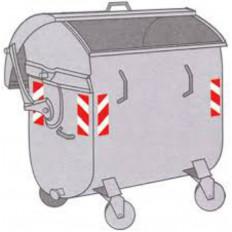 Tiras adesivas refletivas 3M ™ para resíduos e recipientes para