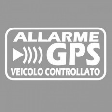 GPS satellite alarm warning stickers to prevent theft car motorcycle truck caravan