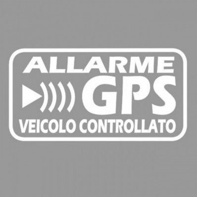 GPS Vehicle Car Alarm Security Caution Warning Decal Stickers