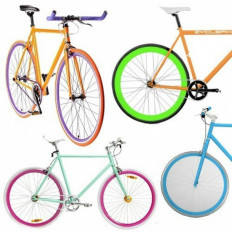 Полоски для колес велосипеда клея Флуоресцентных 3M ™